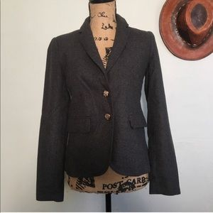 Forever 21 gray faux wool blazer jacket small